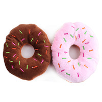 Wholesale New Arrival Lovely Pet Dog Puppy Cat Squeaker Quack Sound Toy Chew Donut Play Toys BI8K
