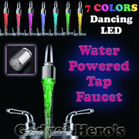 Wholesale Elegant LED Water Faucet Stream Light Colors Changing Shower Tap Tap TE