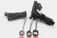Wholesale Titanium e nail coil heater domeless Titanium nail heating coil mm mm mm flat coil for dab nail E cigrette battery