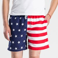 american flag shorts for men - New Summer Fashion Mens Beach Shorts Hip hop American Flag Printing Casual Elastic Boardshorts Joggers For Men
