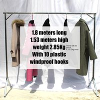 Belts adjustable hanger rod - Hanger folding single rod Y shaped stainless steel simple clothes rack for household items stall meters2 frame