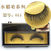 Wholesale Premium Quality False D Eyelashes Handmade Thick Human hair Eyelashes Soft Fake Eye Lash Black Terrier Full Strip Lashes