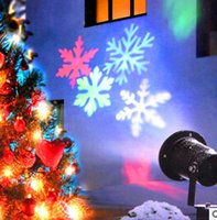 Wholesale LED Gadget Light projector for Christmas decoration party decoration with snow flakes result