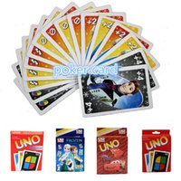 Wholesale UNO Poker Card Standard Edition Family Fun Entermainment Board Game Kids Funny party Game A0636