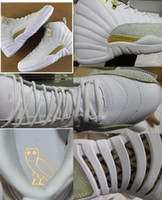 Wholesale Top Quality OVO Retro XII basketball shoes for men athletic trainer sports footwear s black white sneaker