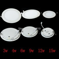 Wholesale light bulb lamp Ultra Bright W W W W W W Led Ceiling Recessed Downlight Round Square Panel light Lm Led Panel