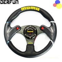 Wholesale NEW cm Black MOMO leather steering wheel and carbon fibre wheel automobile race modified PQY SW41