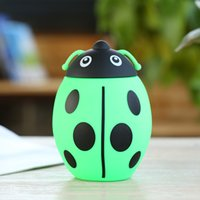 Wholesale Hot new cartoon Ladybug double layer glass heat resistant borosilicate glass cup creative gift custom