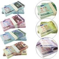 Wholesale 50Pcs Set Paper Money Euro Notes Training Collect Learning Banknotes Money Size