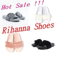 ballet logos - Rihanna Shoes Latest Fashion Slipers For Man And Women With Logo Indoor Sandals Scuffs SIZE Send With Original Boxes