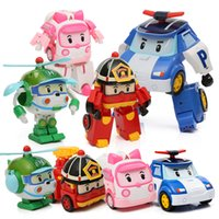 Wholesale South Korea Q version POLI deformation robot team Puzzle animation toys