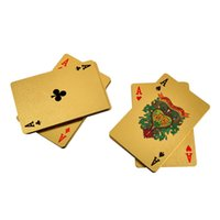Wholesale 24K Gold Foil Plated Poker Card Playing Game High grade Sports Leisure Game Poker Card Gift