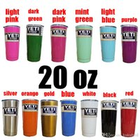Wholesale Color Beer Mug oz Yeti Cups Vacuum cup Rambler Coolers Rambler Tumbler Double Walled Travel Mug By DHL