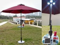 Shade automatic solar shades - Solar Sun Umbrella with Solar Panels Charger for iPhone Ipad etc Bar Umbrella Patio and Beach umbrella LH SU102