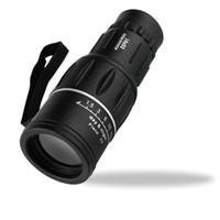 Lente de enfoque dual Baratos-2017 El envío superventas de DHL 16 x 52 se dobla el enfoque óptico del zumbido El telescopio monocular de la armadura de la lente AP al aire libre