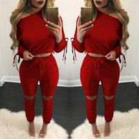 Wholesale 2017 New Arrival Womens Clothing Low Price Casual Wear spring style sweat shirt Print tracksuit women Long Pants Set Sport Suits Cotton Suit