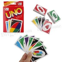 Wholesale UNO Poker Card Game Standard Deck Family Fun Board Game Playing Cards Chritmas Family Games Kids Funny Puzzle Game Fun Board Game