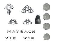 Wholesale New Whole Set MAYBACH Emblems Set of Hub Caps key shell of New MAYBACH S600 S500 S400 DHL Free