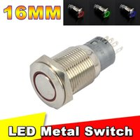 Wholesale AP Waterproof metal switch of LED light IP67 V DC A VAC mm LED Power Push Button Indicating Lamp Resetable type