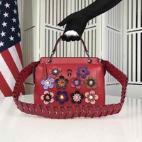 big hand bags - Gorgeous Floral Lady Hand Bags Fashion Designer Zipper Small Hand Bags for Women with Big Flowers