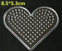 Wholesale Hot cm Bead Pegboard Heart Shape Puzzle Template for mm Perler Beads Creative DIY Educational Toys GYH