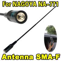 Wholesale 5pcs Female Dual Wide Band Flexible Antenna Radio NA NA771 SMA F SMA VHF UHF MHz for Kenwood BAOFENG UV R BF S