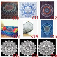 Wholesale 2017 Mandala Beach Towels Tapestry Hippy Boho Tablecloth Bohemian Beach Towel Serviette Covers Beach Shawl Indian Wrap Yoga Mat TOP1622