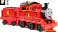 baby toy companies - Large baby Thomas small locomotive train children s toy car model car male educational inertial car light is the company of preschool child
