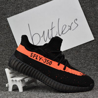 Cheap 2017 Adidas Yeezy 350 Boost V2 Beluga Sply 350 Black White Black Peach Men Women Running Shoes Kanye West Yezzy Boost 350 Season 3 With Box