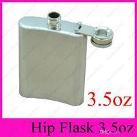 Wholesale 2017 NEW HOT Portable oz Stainless Steel Flagon Ounce Hip Flasks Carry Stoup Whisky Liquor Alcohol Pocket Hip Flask oz Wine Pot
