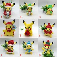 Wholesale Christmas Pikachu Dolls Plush Dolls Toys Inch cm EMS Children Pikachu Charmander Jeni Turtle Plush Dolls Christmas Gift XL X50