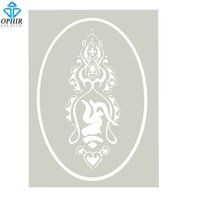 Wholesale OPHIR Airbrush Stencil Tattoo Template for Girl Female Tattoo Tibetan Style _STE005F