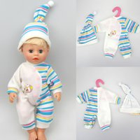 baby doll accessories - Doll accessories striped jumpsuit fit cm Baby Born zapf Children best Birthday Gift only sell clothes