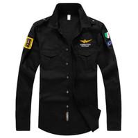 air force dress shirt - 2017 brand clothing air force one shirt men long sleeve slim fit aeronautica militare men dress shirt camisas hombre camisa masculina