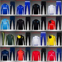 Wholesale 2016 real madrid Manchester Tracksuits top quality Training suit BENZEMA JAMES PSG Atletico Madrid Chelsea Manchester football Trac