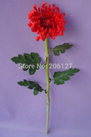 artificial spider - 28 Artificial Chrysanthemum Flower Fake PU Latex Spider Mum Real Touch Wedding Decoration Hot Sale Good Quality Flore