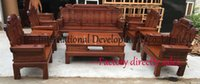Wholesale Home wood sofas pieces living room sofa sets carving wood furniture seat table couch african rosewood fine tenon structure