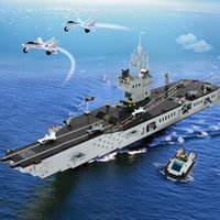 Wholesale Enlightenment block block military assembles toy aircraft carrier model large carriers