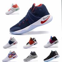 al por mayor hombres s zapatos del aire de baloncesto-Zapato de baloncesto de los hombres de Kyrie 2 Zapato de baloncesto de los hombres de Kyrie 2 Zapatillas de deporte del amortiguador de aire del alumbrador del aire Zapatos de los amaestradores con alta calidad Tamaño 7-12