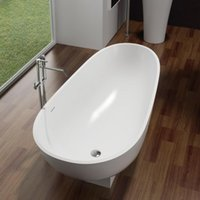 Wholesale Bathroom Furniture Solid Surface Stone Artificial Stone Man Made Stone Bathtub PB1010
