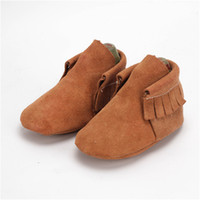 Wholesale 1 Pair Send Suede Leather Baby Boot Newborn Girls Shoes Indoor Slippers Soft Sole Baby Moccasins M