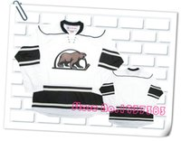 Wholesale 2016 New Design Style HERSHEY BEARS White Hockey Jerseys Accept Custom Stitched Jerseys Custom Any Name and Any Number