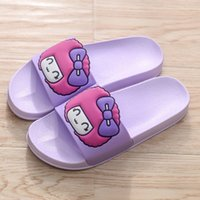 Moccasins adult cartoon slippers - Women s summer loverly cartoon indoor floor slippers shoes animal slides PVC home flip flops for adults max size purple