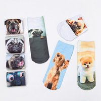 Wholesale New Fashion Cute Women Men Unisex D Cartoon Funny Dog Animal Printed Low Cut Ankle Short Breathable Cotton Socks Hot