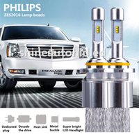 Wholesale 1set PHILIPS ZES2016 W LM H1 H4 H7 H8 H9 H11 LED Headlight K Kit Beam Bulbs White light Replace Halogen xenon Headlamp