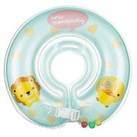 Free Size PVC Mini Mambo baby 10.5cm Round Baby Infant Swimming Neck Ring Safety Float Inflatabler Ring Newest