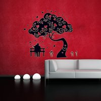 Large Tree Couples Luminous Stickers Footprints Glowing Sticker mural pour enfants Rooms Stickers muraux Cute Angels And Heart
