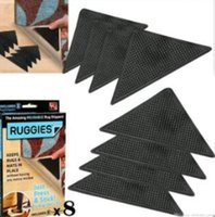 Wholesale Ruggies Rug Carpet Mat Grippers Non Slip Grip Corners Pad Anti Skid Reusable Washable Silicone Useful