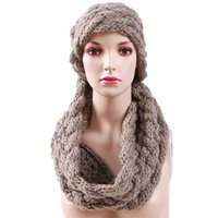 Wholesale 2016 Winter Cable Ring Scarf Women Knitting Infinity Scarves Knitted Warm Neck Circle Scarf bufandas cuellos Hot Sale KH988544