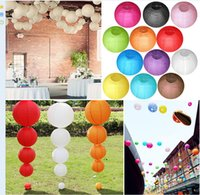 Wholesale 10cm colorful Chinese paper Lantern Wedding Prom Party Home Decoration round Paper Lantern Chinese Decoration Wedding Party KKA985